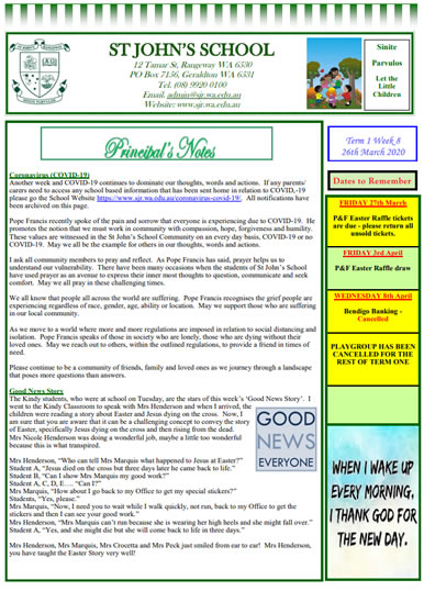 Newsletter 2020 – Term 1, Week 8