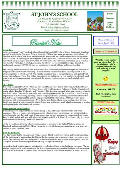 Newsletter 2020 – Term 2, Week 1