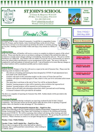 Newsletter 2020 – Term 2, Week 5
