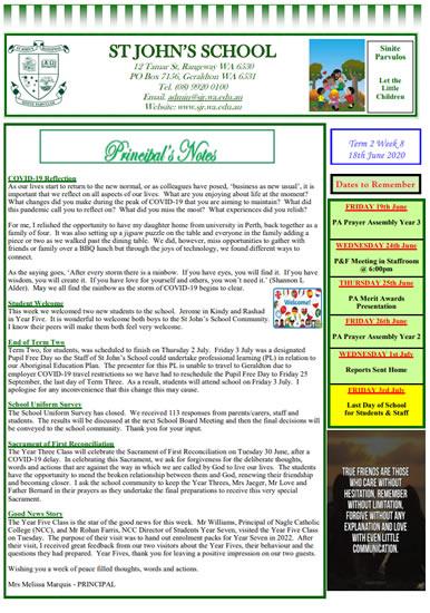 Newsletter 2020 – Term 2, Week 9